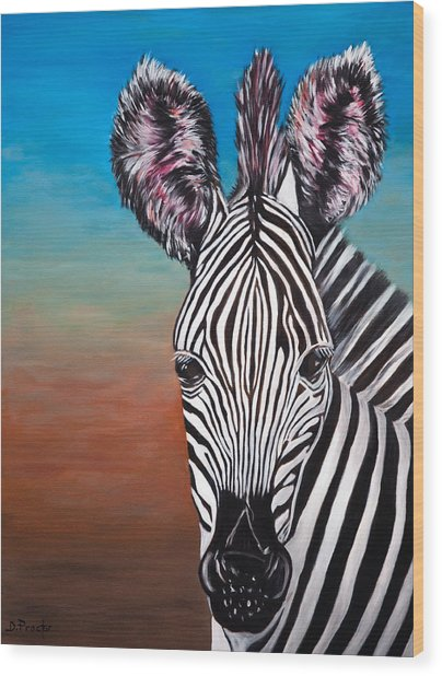 African Zebra Wood Print