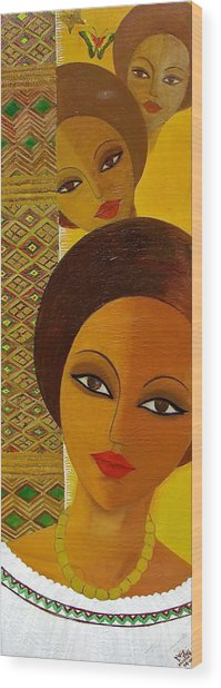 Afro Beauty Wood Print