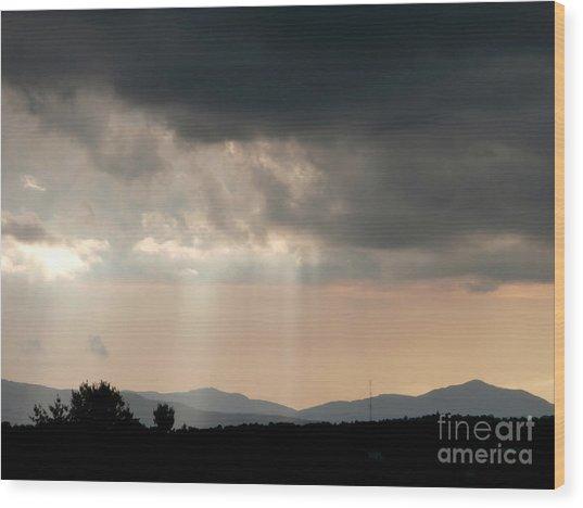 After A Rain Storm Wood Print by Steven Valkenberg