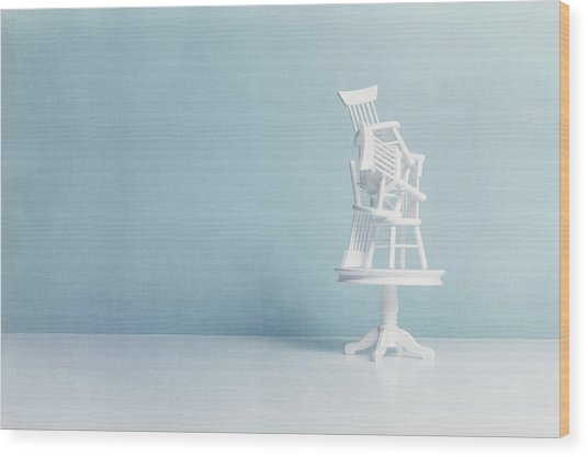 After Everybody Leaves... Wood Print by Image by Catherine MacBride