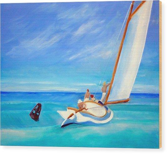 After Hopper- Sailing Wood Print