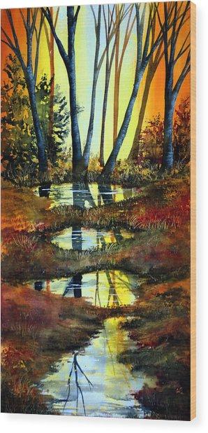 After The Rain Wood Print by Ann Marie Bone