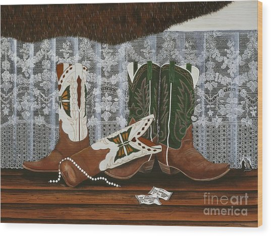 After The Rodeo Dance Wood Print