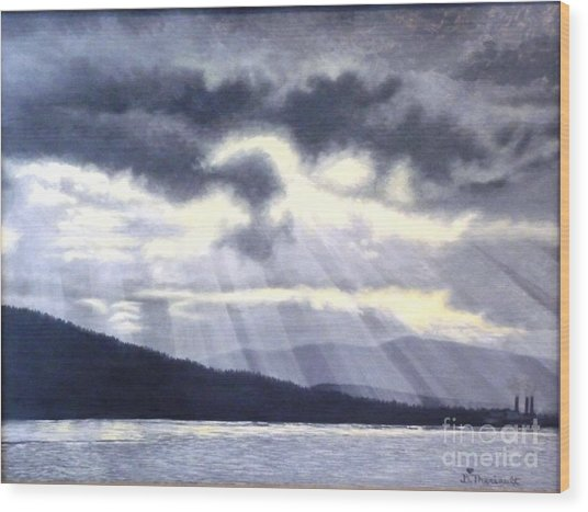 After The Storm Wood Print by Beverly Theriault