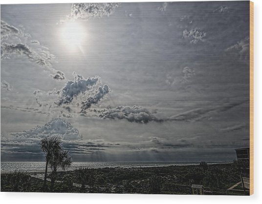 After The Storm Wood Print by Christina Manassa