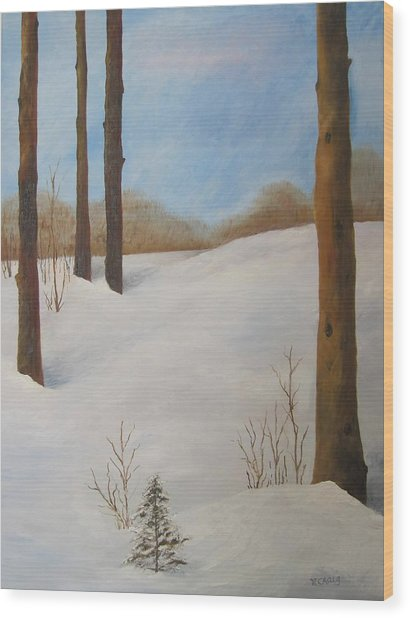 After The Storm Wood Print by Nancy Craig