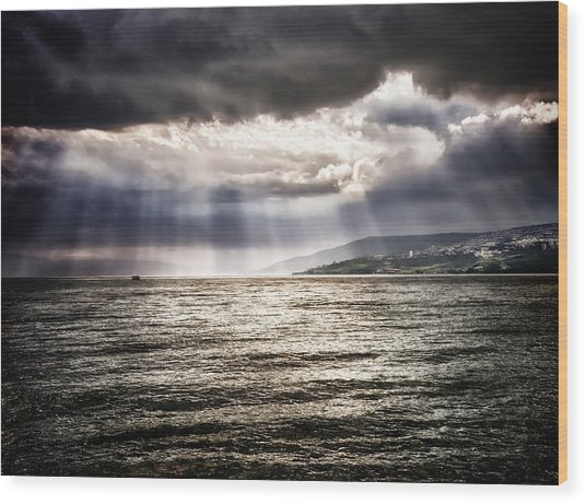 After The Storm Sea Of Galilee Israel Wood Print