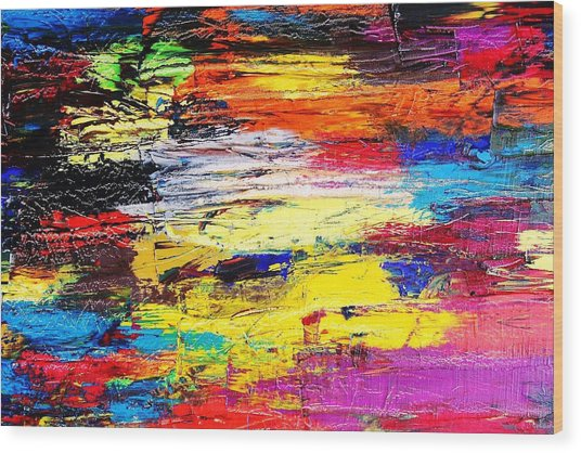After The Storm The Sunset Wood Print