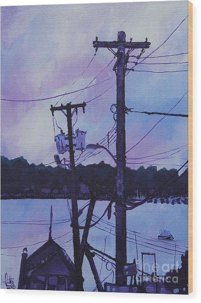 After The Sunset Wood Print