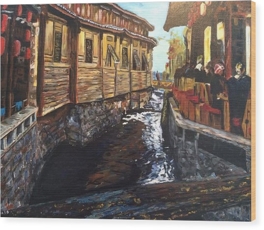 Afternoon Delight In Old Town Of Lijiang Wood Print
