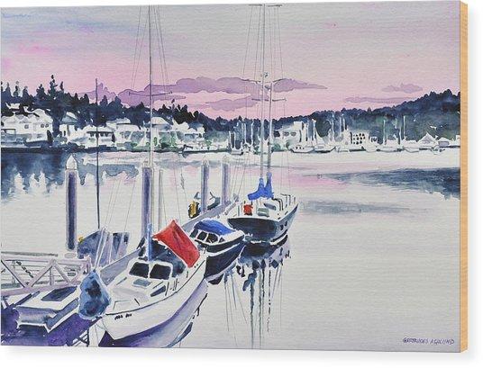 Afternoon Gig Harbor Wood Print