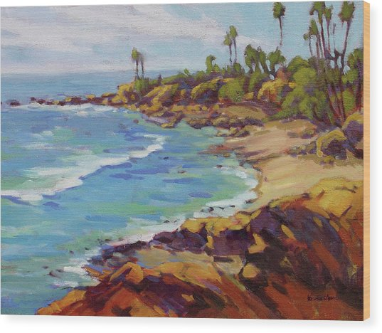 Afternoon Glow 2 /laguna Beach Wood Print