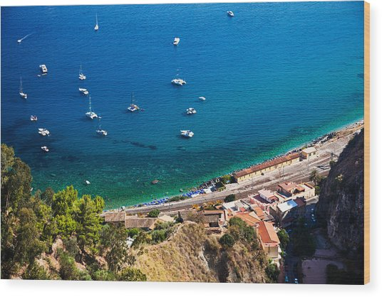 Afternoon In Taormina Wood Print