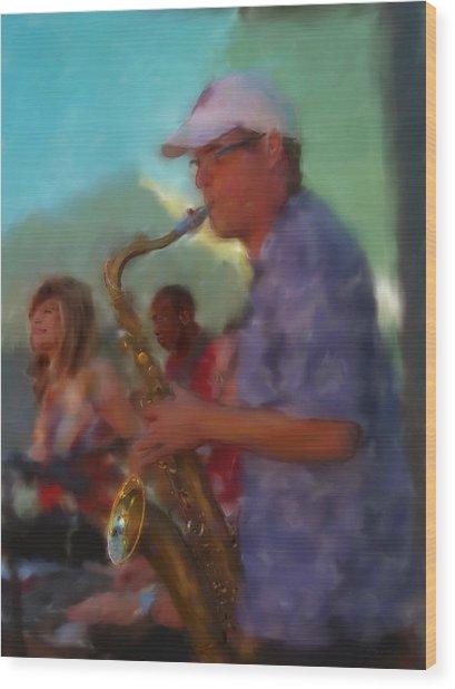 Afternoon Jazz Wood Print