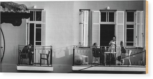 Afternoon On The Balcony Wood Print