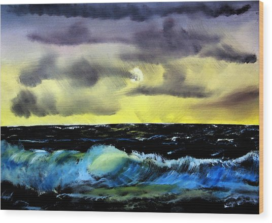 Afternoon On The Oceans Wood Print