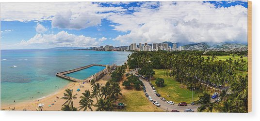Afternoon On Waikiki Wood Print