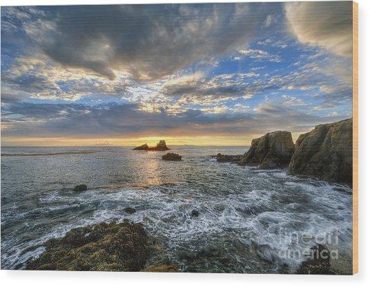 Afternoon Sky In Laguna Beach Wood Print