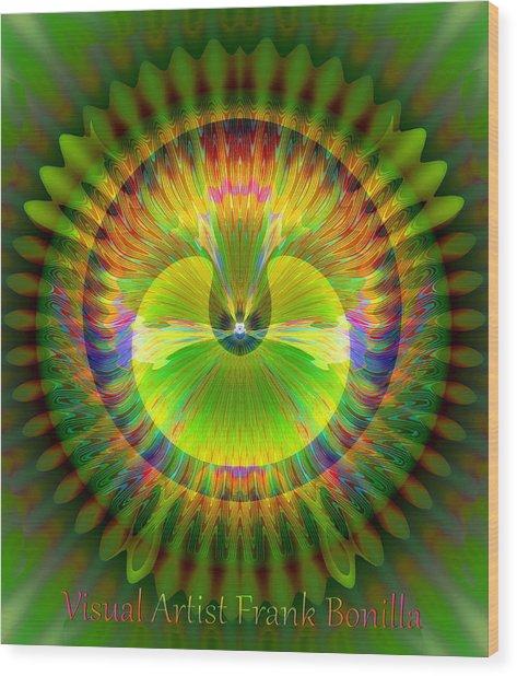 Wood Print featuring the digital art Afternoon Sunrise by Visual Artist Frank Bonilla
