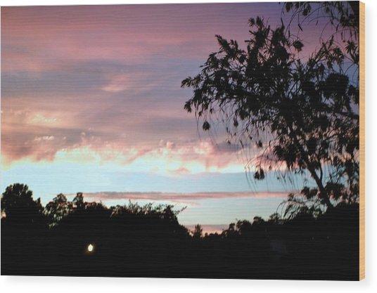 Against The Blue Sky Wood Print