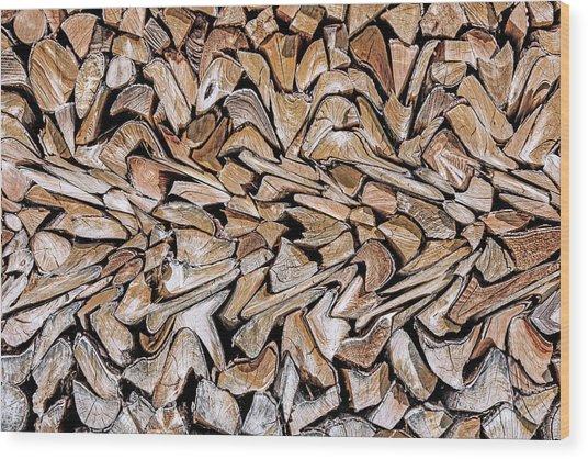 Against The Grain Wood Print by Wayne Pearson