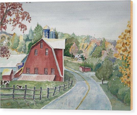 Pennsylvania - Agawam Barn Wood Print