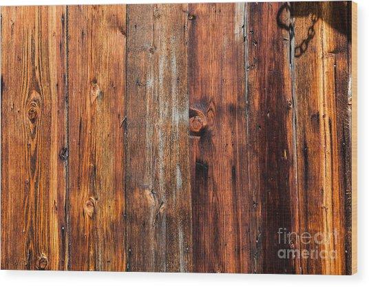 Aged Wood Wood Print