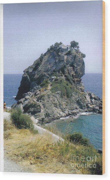Agios Ioannis Sto Kastraki Wood Print by Katerina Kostaki