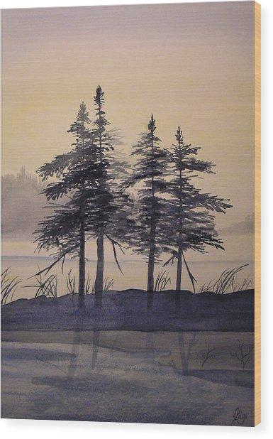 Aguasabon Trees Wood Print