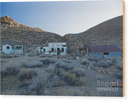 Aguereberry Camp Death Valley National Park Wood Print