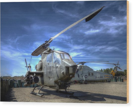 Ah-1 Cobra Wood Print