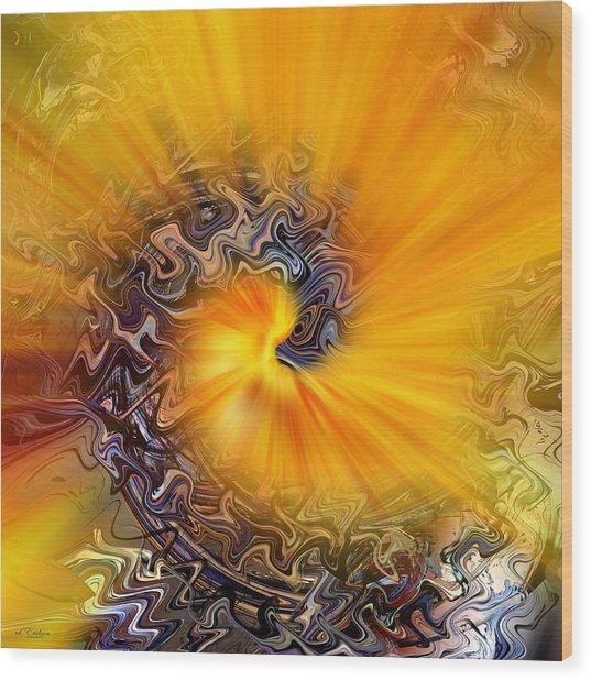 Wood Print featuring the digital art Ahhhhh by rd Erickson
