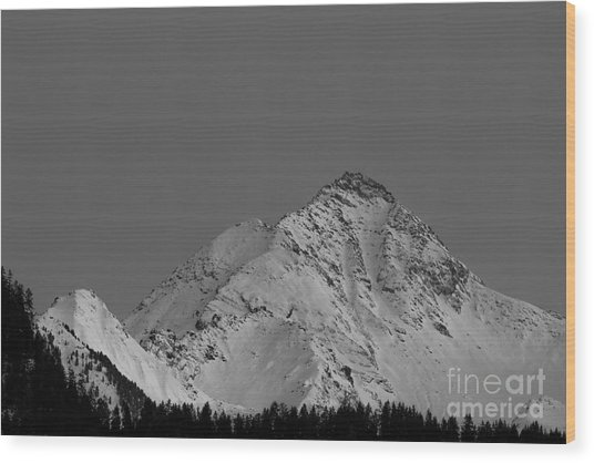 Ahornspitze After Midnight Wood Print