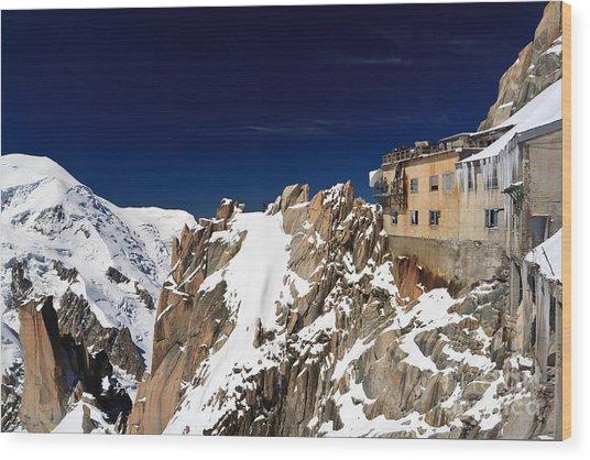 Aiguille Du Midi -  Mont Blanc Massif Wood Print