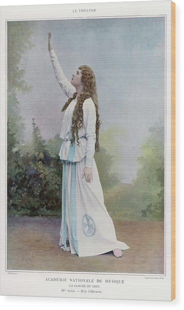Aino Ackte  Finnish Opera Singer, Seen Wood Print by Mary Evans Picture Library