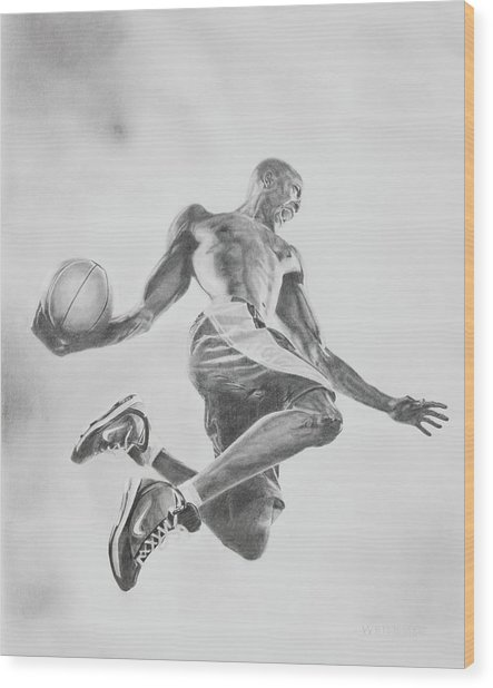 Air Ball Wood Print by Jennifer Whittemore