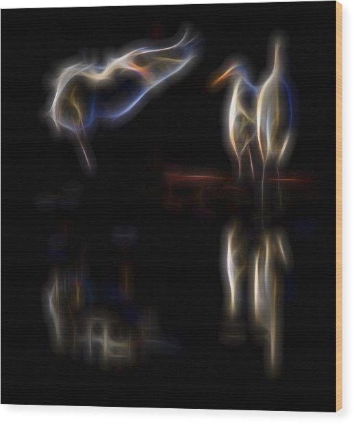 Air Elementals 1 Wood Print