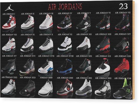Air Jordan Shoe Gallery Wood Print