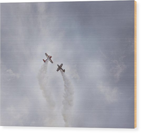 Air Show #3 Wood Print by Pat Abbott