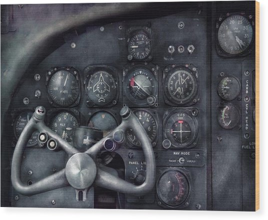 Air - The Cockpit Wood Print