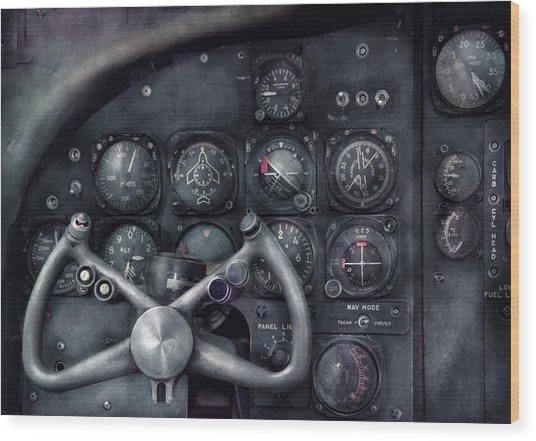 Air - The Cockpit Wood Print