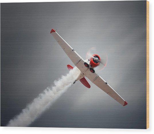 Aircraft In Flight Wood Print