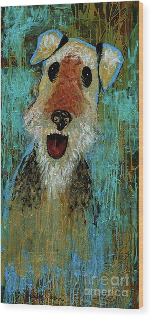 Airedale Terrier Wood Print