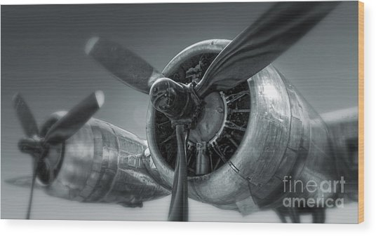 Airplane Propeller - 02 Wood Print