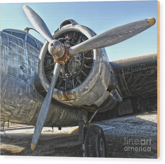 Airplane Propeller - 04 Wood Print by Gregory Dyer