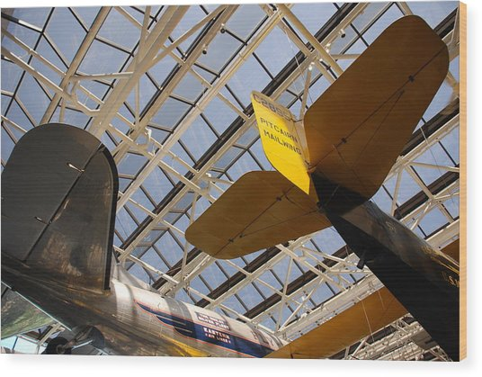 Airplane Rudders Wood Print