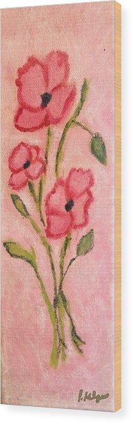 Aislinn's Poppies Wood Print by Pamela Kilgus