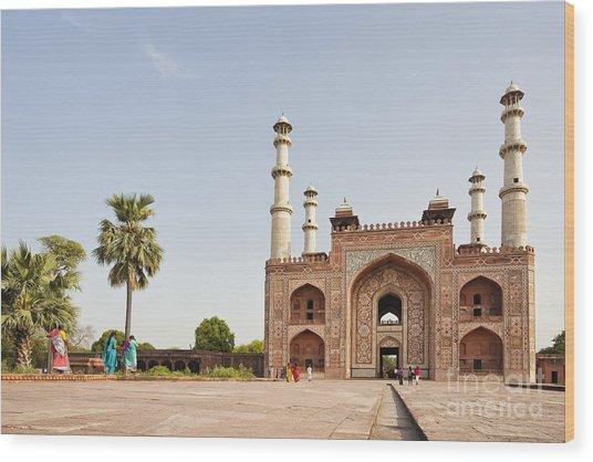 Akbar's Tomb In  India Wood Print