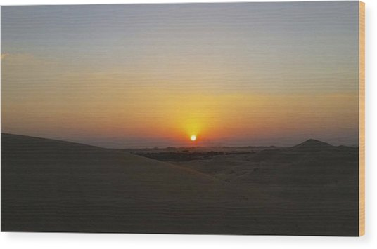 Al Ain Desert 15 Wood Print