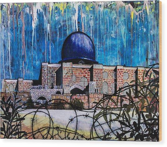 Al-asqa Mosque Palestine Wood Print by Salwa  Najm